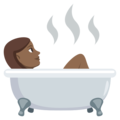 Person Taking Bath: Medium-Dark Skin Tone on EmojiOne 3.1