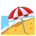 Beach With Umbrella on EmojiOne 3.1