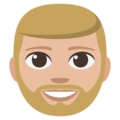 Bearded Person: Medium-Light Skin Tone on EmojiOne 3.1