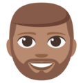 Bearded Person: Medium Skin Tone on EmojiOne 3.1