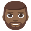 Bearded Person: Medium-Dark Skin Tone on EmojiOne 3.1