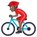 Person Biking: Medium-Dark Skin Tone on EmojiOne 3.1
