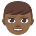 Boy: Medium-Dark Skin Tone on EmojiOne 3.1