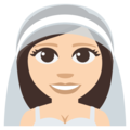 Bride With Veil: Light Skin Tone on EmojiOne 3.1