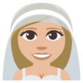 Bride With Veil: Medium-Light Skin Tone on EmojiOne 3.1
