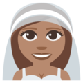 Bride With Veil: Medium Skin Tone on EmojiOne 3.1