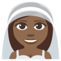 Bride With Veil: Medium-Dark Skin Tone on EmojiOne 3.1
