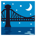 Bridge at Night on EmojiOne 3.1