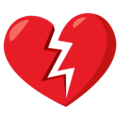 Broken Heart on EmojiOne 3.1