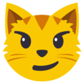 Cat Face With Wry Smile on EmojiOne 3.1