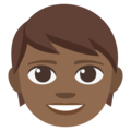 Child: Medium-Dark Skin Tone on EmojiOne 3.1