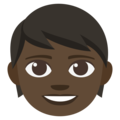 Child: Dark Skin Tone on EmojiOne 3.1