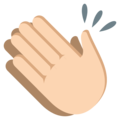 Clapping Hands: Light Skin Tone on EmojiOne 3.1