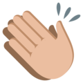Clapping Hands: Medium-Light Skin Tone on EmojiOne 3.1