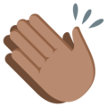 Clapping Hands: Medium Skin Tone on EmojiOne 3.1