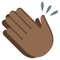 Clapping Hands: Medium-Dark Skin Tone on EmojiOne 3.1