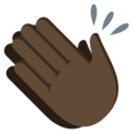 Clapping Hands: Dark Skin Tone on EmojiOne 3.1