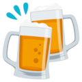 Clinking Beer Mugs on EmojiOne 3.1