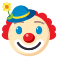 Clown Face on EmojiOne 3.1