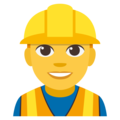 Construction Worker on EmojiOne 3.1
