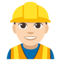 Construction Worker: Light Skin Tone on EmojiOne 3.1