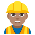 Construction Worker: Medium Skin Tone on EmojiOne 3.1