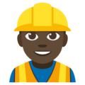Construction Worker: Dark Skin Tone on EmojiOne 3.1