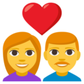 Couple With Heart: Woman, Man on EmojiOne 3.1