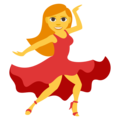 Woman Dancing on EmojiOne 3.1