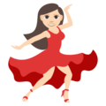 Woman Dancing: Light Skin Tone on EmojiOne 3.1