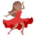 Woman Dancing: Medium Skin Tone on EmojiOne 3.1