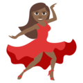 Woman Dancing: Medium-Dark Skin Tone on EmojiOne 3.1