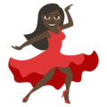 Woman Dancing: Dark Skin Tone on EmojiOne 3.1