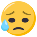 Sad but Relieved Face on EmojiOne 3.1