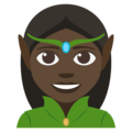 Elf: Dark Skin Tone on EmojiOne 3.1