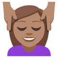 Person Getting Massage: Medium Skin Tone on EmojiOne 3.1