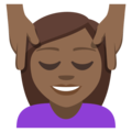 Person Getting Massage: Medium-Dark Skin Tone on EmojiOne 3.1