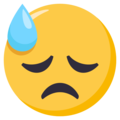 Downcast Face With Sweat on EmojiOne 3.1
