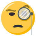 Face With Monocle on EmojiOne 3.1