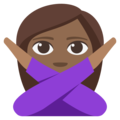 Person Gesturing No: Medium-Dark Skin Tone on EmojiOne 3.1