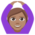 Person Gesturing OK: Medium Skin Tone on EmojiOne 3.1
