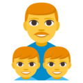 Family: Man, Boy, Boy on EmojiOne 3.1