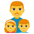 Family: Man, Girl, Boy on EmojiOne 3.1