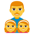 Family: Man, Girl, Girl on EmojiOne 3.1