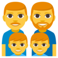 Family: Man, Man, Boy, Boy on EmojiOne 3.1