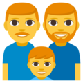 Family: Man, Man, Boy on EmojiOne 3.1