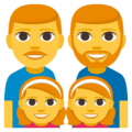 Family: Man, Man, Girl, Girl on EmojiOne 3.1