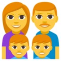 Family: Man, Woman, Boy, Boy on EmojiOne 3.1