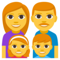 Family: Man, Woman, Girl, Boy on EmojiOne 3.1