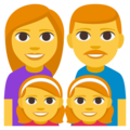 Family: Man, Woman, Girl, Girl on EmojiOne 3.1